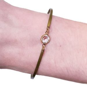 2/$15 💕 Swarovski Crystal Gold Bar Bracelet